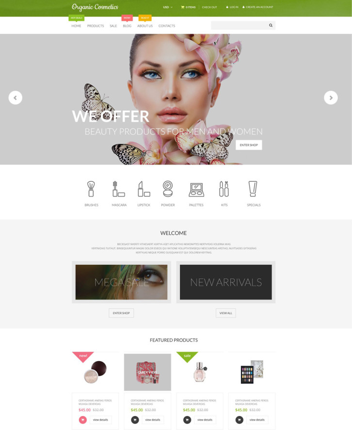13-organic-cosmetics Shopify theme