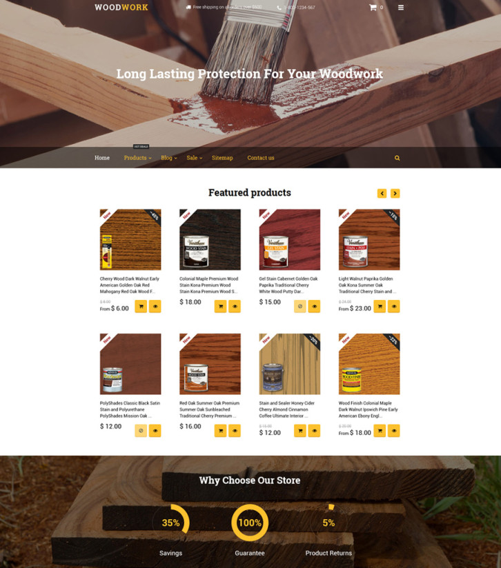 16-woodwork Shopify theme