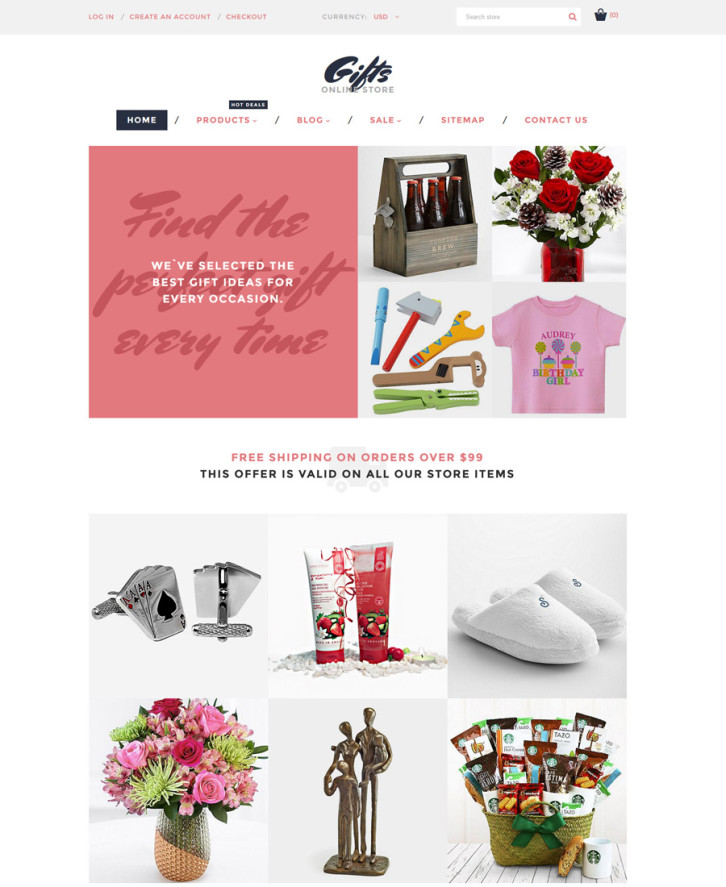 18-gifts-online-store Shopify theme