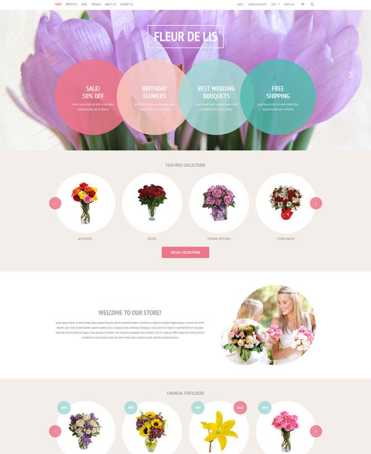 21-fleur-de-lis free Shopify theme