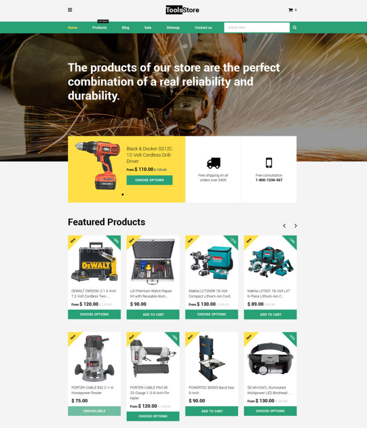 5-ToolsStore Shopify theme