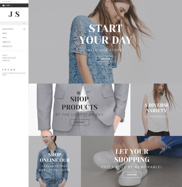 8-js-apparel Shopify theme