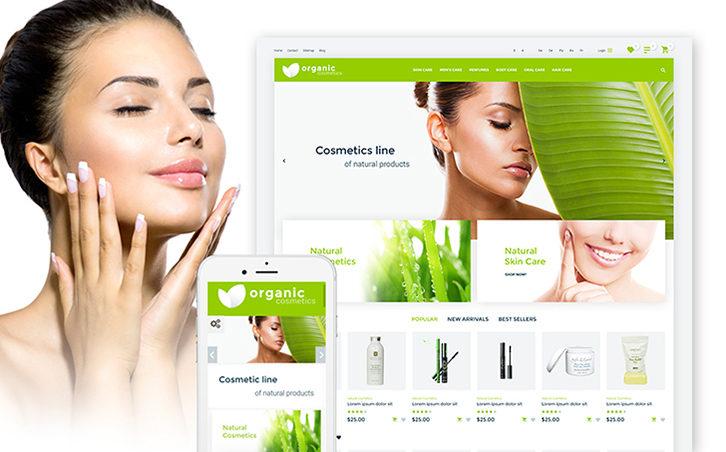 Organic cosmetics - responsive PrestaShop Theme