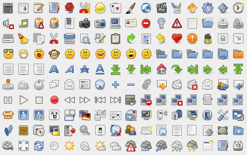 Library provides developers a set of professional high quality icons.